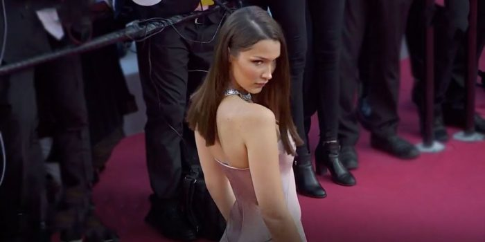 "<span lang =""en"">Bella took over the red carpet at the Cannes Fest 2018</envergure>"