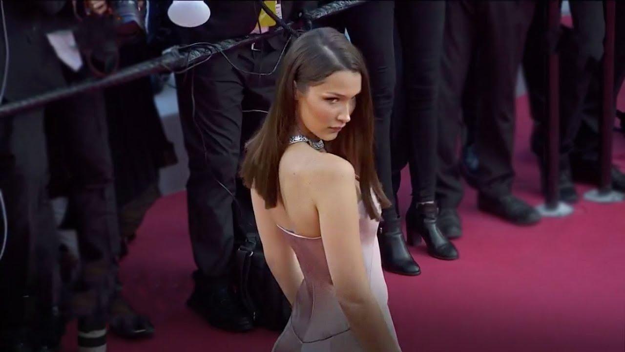 Bella nahm über den roten Teppich in Cannes Fest 2018