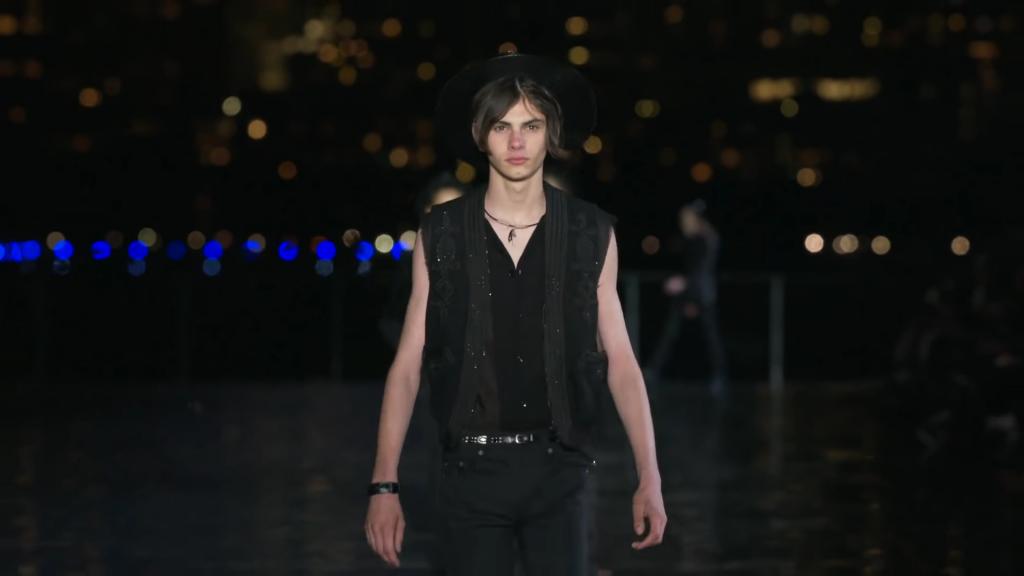 "Screenshotter SaintLaurentSpringSummer2019FullFashionShowMenswear 8'53"""